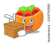 with box pita bread sandwiches...   Shutterstock .eps vector #1243795585