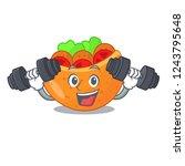 fitness falafel in pita in... | Shutterstock .eps vector #1243795648