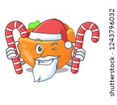 santa with candy pita bread... | Shutterstock .eps vector #1243796032
