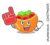foam finger pita bread filled... | Shutterstock .eps vector #1243796035