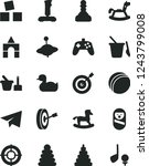 solid black vector icon set  ... | Shutterstock .eps vector #1243799008