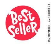 best seller text red round... | Shutterstock .eps vector #1243805575