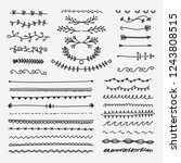hand drawn of line border set... | Shutterstock .eps vector #1243808515