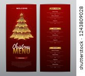 christmas menu design with... | Shutterstock .eps vector #1243809028