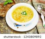 pasta soup for kids | Shutterstock . vector #1243809892