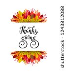 happy thanksgiving day brush...   Shutterstock .eps vector #1243812088