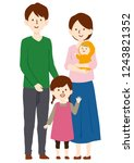 family of four vector...   Shutterstock .eps vector #1243821352