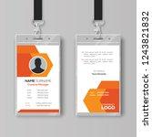 abstract orange id card design... | Shutterstock .eps vector #1243821832