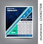 brochure design template vector.... | Shutterstock .eps vector #1243827508