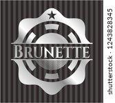 brunette silver badge or emblem | Shutterstock .eps vector #1243828345