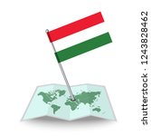 map with flag of hungary...