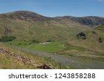 hill farming of herdwick sheep... | Shutterstock . vector #1243858288