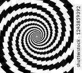 design monochrome spiral... | Shutterstock .eps vector #1243859392