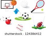 sport balls set | Shutterstock .eps vector #124386412