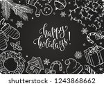 merry christmas composition in...   Shutterstock .eps vector #1243868662