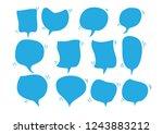 vector bubbles speech set. hand ... | Shutterstock .eps vector #1243883212