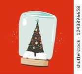 hand drawn vector abstract fun... | Shutterstock .eps vector #1243896658