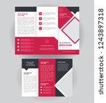 tri fold business brochure... | Shutterstock .eps vector #1243897318