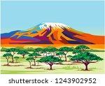 Kilimanjaro Landscape On Vector ...