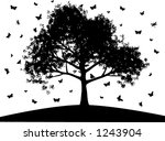 butterflies and tree  fully... | Shutterstock .eps vector #1243904