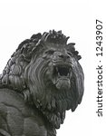 Muscular Lion Statue Close Up