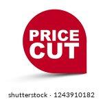 red vector banner price cut   Shutterstock .eps vector #1243910182