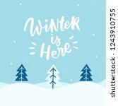 winter landscap with hand drawn ...   Shutterstock .eps vector #1243910755