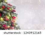 holiday background with... | Shutterstock . vector #1243912165