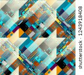 abstract seamless pattern with... | Shutterstock .eps vector #1243918408
