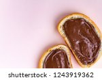pieces of loaf with chocolate... | Shutterstock . vector #1243919362