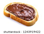 isolated piece of loaf with... | Shutterstock . vector #1243919422