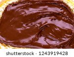 piece of loaf with chocolate... | Shutterstock . vector #1243919428
