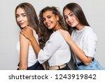 three beautiful multiethnic...   Shutterstock . vector #1243919842