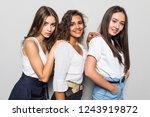 three beautiful multiethnic...   Shutterstock . vector #1243919872