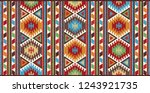 colorful oriental mosaic rug... | Shutterstock . vector #1243921735