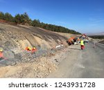 excavation and backfilling of... | Shutterstock . vector #1243931728
