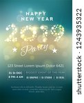 beautiful party flyer with... | Shutterstock .eps vector #1243935322