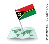 map with flag of vanuatu...
