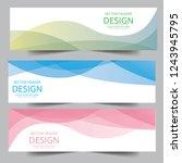 vector green  blue  pink... | Shutterstock .eps vector #1243945795