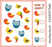 how many is educational game.... | Shutterstock .eps vector #1243947568