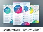 corporate flyer design template ... | Shutterstock .eps vector #1243949335