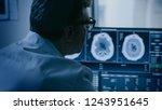 in medical laboratory patient...   Shutterstock . vector #1243951645