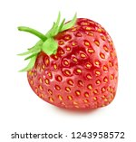 strawberry isolated on white... | Shutterstock . vector #1243958572