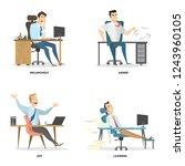 office emotions set. business... | Shutterstock . vector #1243960105