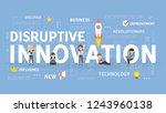 disruptive innovation concept... | Shutterstock . vector #1243960138