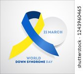 world down syndrome day. event...   Shutterstock . vector #1243960465