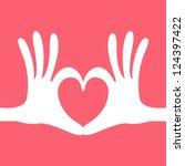 hand heart gesture | Shutterstock .eps vector #124397422