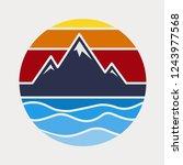 mountain illustration near de... | Shutterstock .eps vector #1243977568