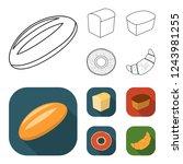 loaf cut  bagel  rectangular... | Shutterstock . vector #1243981255