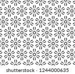 decorative vector seamless... | Shutterstock .eps vector #1244000635